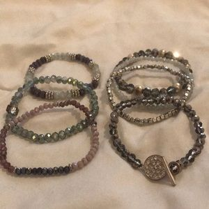 Jewelry - Set Of 7 Beaded Bracelets